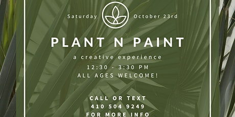 Plants n Paint: A Creative Experience tickets