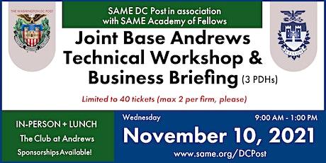 Nov. 10 - SAME DC Post: Joint Base Andrews Technical Workshop tickets