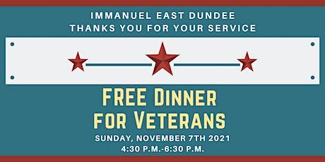 FREE Dinner for Veterans 2021 tickets