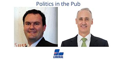 Politics in the Pub- Mr. Richard Wilson and Dr. David Honey MLA tickets