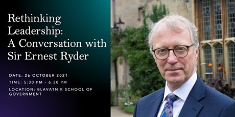 Rethinking Leadership: A Conversation with Sir Ernest Ryder tickets