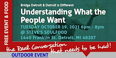 Understanding What the  People Want: Detroiters and Local Politics Panel tickets