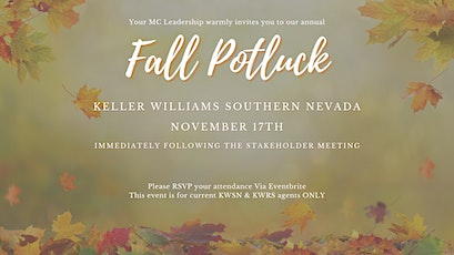 KW South Fall Potluck tickets