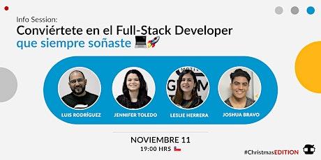 InfoSession: Conviértete en el Full-Stack Developer que siempre soñaste ser tickets
