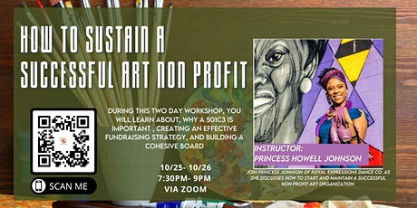 How to maintain a Successful Art Non Profit tickets