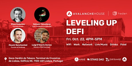 [Panel] Leveling Up DeFi w/ Aave, Avalanche, ParaSwap, StakeDAO bilhetes