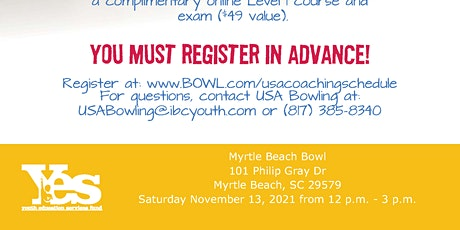 FREE USA Bowling In-Person Coaching Seminar - Myrtle Beach Bowl tickets