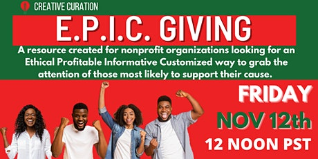 E.P.I.C. GIVING For Community Based Organizations tickets