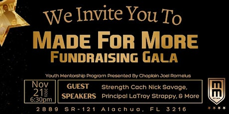 Made For More  Fundraiser Gala tickets