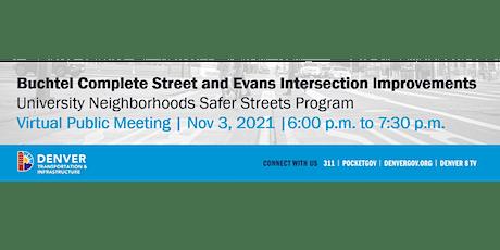 Virtual Public Meeting | University Neighborhoods Safer Streets Program tickets