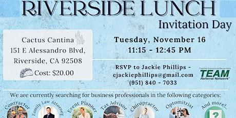 Riverside Lunch Invitation Day tickets