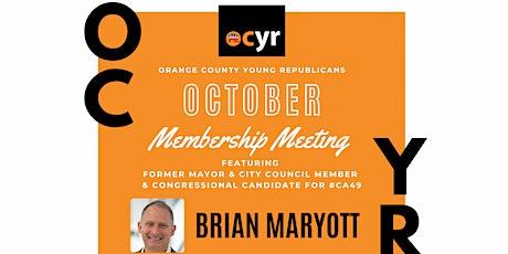 OCYR October Membership Meeting tickets