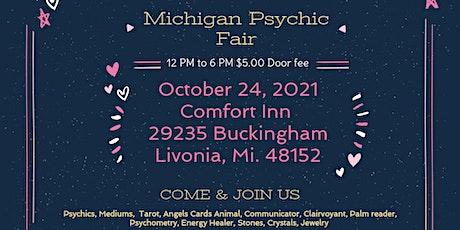 Michigan Psychic Fair October 24, 2021, Comfort Inn  Livonia, MI. 48152 tickets
