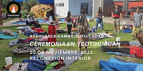 Ceremonia en Teotihuacan con Ayahuasca/Kambó/Bufo/Cacao boletos