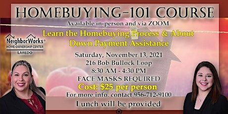 November Homebuying 101 Course tickets