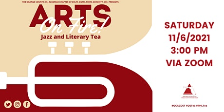 Arts On Fire! Jazz and Literary Tea tickets