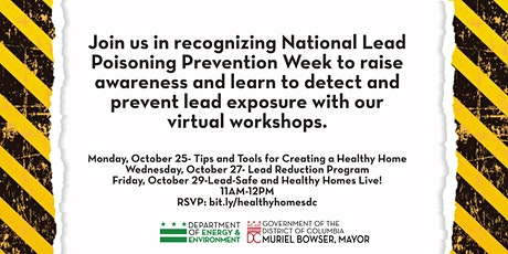 National Lead Poisoning Prevention Week tickets