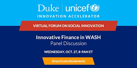 Panel Discussion: Innovative Finance in WASH tickets