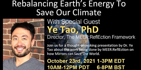 Rebalancing Earth's Energy To Save Our Climate tickets