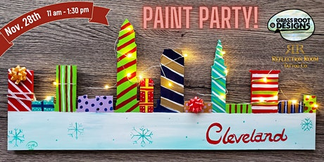 Gift Wrapped Cleveland Skyline  Paint Party! tickets