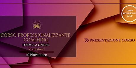 Presentazione del Corso Professionalizzante di Coaching - 6a edizione biglietti