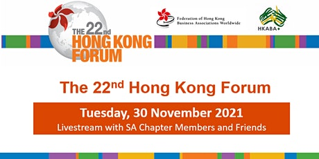 22nd Hong Kong Forum Livestream Event with HKABA SA Chapter tickets