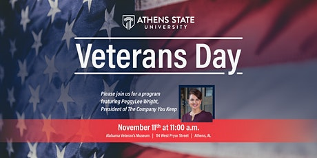 Veterans Day Program, Featuring PeggyLee Wright tickets