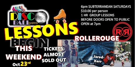 ROLLEROUGE Roller Skating Dance LESSONS tickets