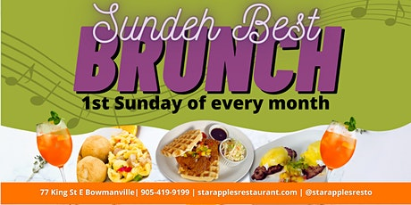 Starapples & Build Your Vibe Sundeh Best Brunch with live DJ tickets
