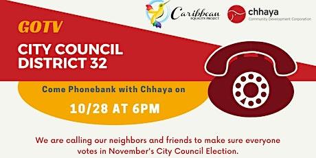 GOTV - City Council District 32 - Phonebanking 2 tickets