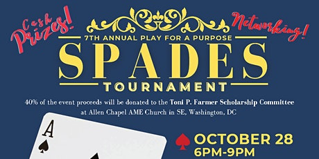 7th Annual Play for A Purpose Spades Tournament tickets