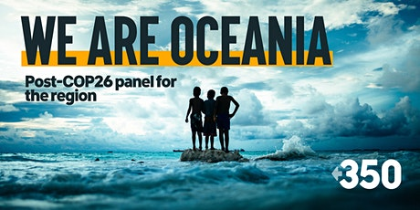 Post-COP26 webinar - implications for Oceania tickets