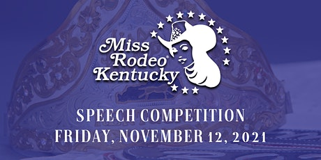 Miss Rodeo Kentucky Pageant Speech Competition tickets