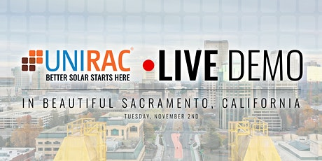 Live Installation Demo and Lunch With Unirac tickets
