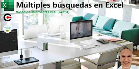 Múltiples búsquedas en Excel boletos