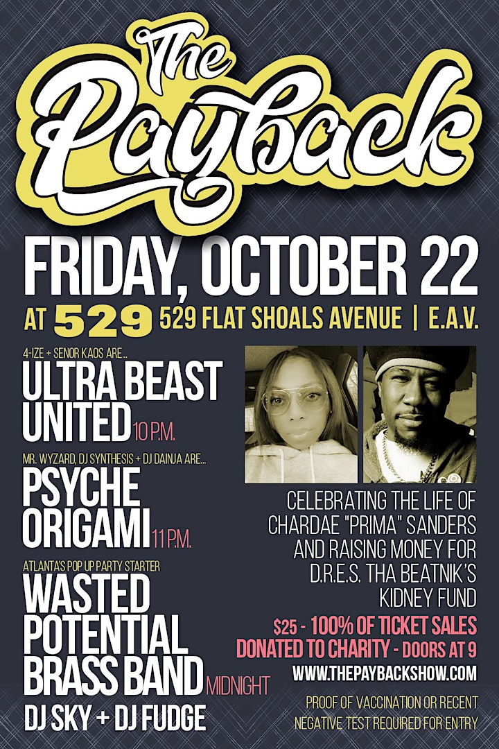 The Payback: Psyche Origami, Wasted Potential Brass Band, Ultra Beast image