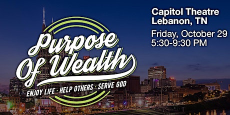 Purpose of Wealth LIVE tickets
