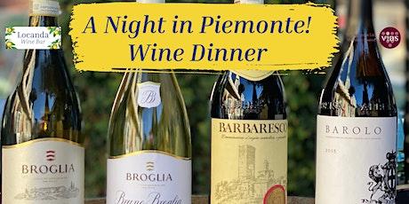 A Night in Piemonte Wine Dinner tickets