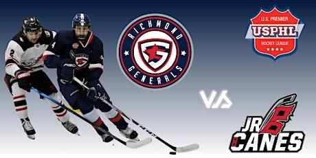 Richmond Generals vs Carolina Jr Canes - ELITE tickets