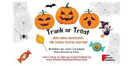 Trunk or Treat on Main Street, Filer tickets