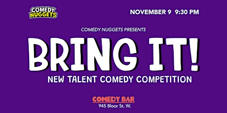 Bring It - New Talent Comedy Competition tickets