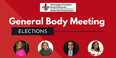YP Candidate Forum & Election - October General Body Meeting tickets