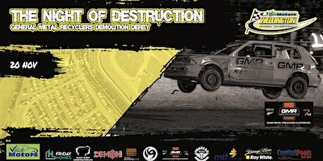 Night of destruction GMR Demolition Derby tickets