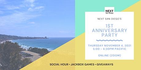 NEXT San Diego's 1st Anniversary Party tickets