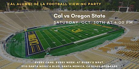 Cal Football Viewing Party vs. Oregon State tickets