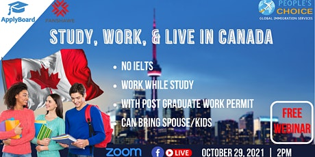 STUDY, WORK, & LIVE IN CANADA WITH FANSHAWE COLLEGE tickets