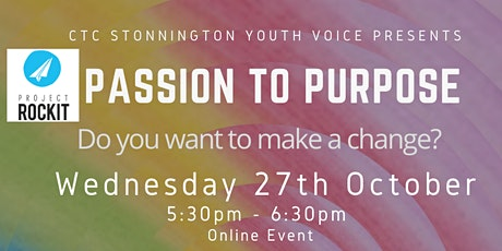 FROM PASSION TO PURPOSE: Taking Positive Action: a 1-1 with Project Rockit! tickets