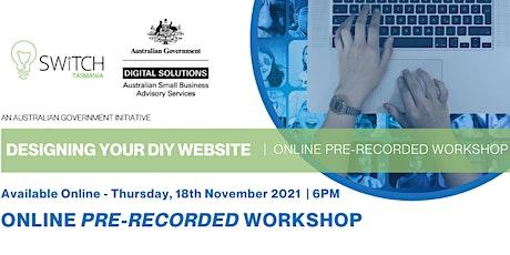 DESIGNING YOUR DIY WEBSITE - |  Online  Workshop tickets