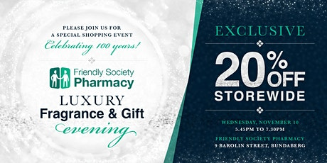 20% off storewide! Luxury Fragrance and Gift Night with The Friendlies tickets