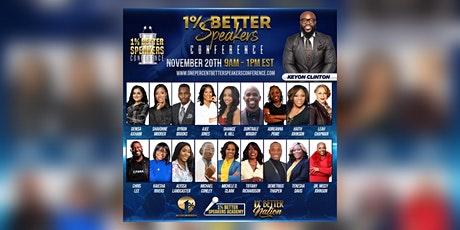 1% Better Speakers Conference tickets